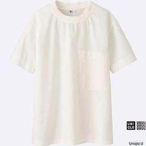 Uniqlo U Light Cotton Short Sleeve T Blouse SZ S